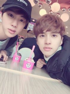 iM SCREAMING I SERIOUSLY CANT OH MY GOD JIN AND KEN THEYRE SO VISUAL  #bts #vixx