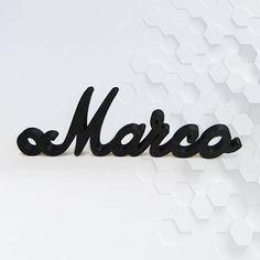 Nome personalizzato in stampa 3d di HardShirtShop su Etsy