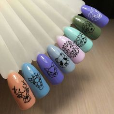 Nail Art Water Transfer Sticker Hollow Tattoo Decals Geometry Flamingo Dog Slider Adhesive Decoration Manicure Brand New and High Quality nail art water transfer stickers Easy to apply on Natuarl or Artificial Nails Size Package Content. Love Nails, Pretty Nails, Geometric Nail, Manicure E Pedicure, Nagel Gel, Creative Nails, Halloween Nails, Diy Nails, Nails Inspiration