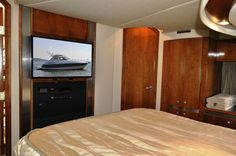 Entertainment center in the Master stateroom