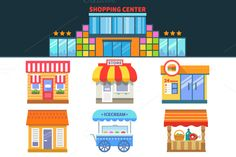 Shops and trade. Shopping Center by Art Store on Creative Market