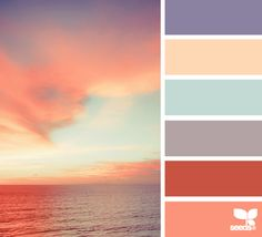 the colors of the sunset