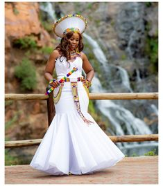 Zulu Traditional Wedding Dresses, Zulu Traditional Attire, South African Traditional Dresses, Traditional Dresses Designs, Traditional Outfits, Traditional Weddings, Wedding Dresses South Africa, African Wedding Attire, African Attire