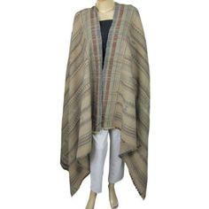 Châle en laine brodé Wrap accessoire de l'Inde: Amazon.fr: Vêtements et accessoires