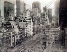 I think this photo catures the life of the city. Not only does it show the city but it has refracted light jumping off the buildings creating the effect that the buildings are alive and constantly in motion. The pinhole camera captures all of this very well.