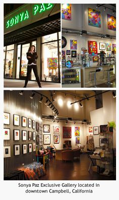 The former Sonya Paz Gallery in Campbell, CA (We have relocated to San Jose, it's all good!)