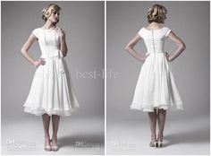 Super cute vintage wedding dress.