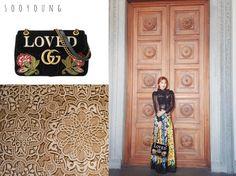 * Sooyoung *  Shoulder Bag: https://www.gucci.com/us/en/pr/women/womens-handbags/womens-shoulder-bags/gg-marmont-embroidered-velvet-shoulder-bag-p-443496K4DLT1093?position=8&listName=ProductGridComponent&categoryPath=Women/Womens-Handbags/Womens-Shoulder-Bags