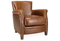Benoit Club Chair, Cognac on OneKingsLane.com