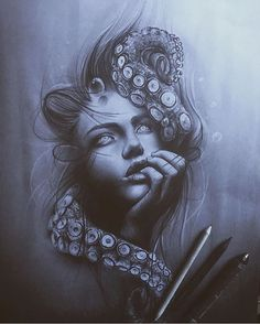 Love this drawing by Tattoo Sketches, Tattoo Drawings, Body Art Tattoos, Art Sketches, Sleeve Tattoos, Art Drawings, Mago Tattoo, Underwater Tattoo, Underwater Drawing