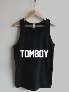 Tomboy Varsity Typography Unisex Tank Top