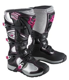 Shop for Boots, like Fox Racing Women's Comp 5 Boots 2015 at Rocky Mountain ATV/MC. We have the best prices on dirt bike, atv and motorcycle parts, apparel and accessories and offer excellent customer service. Dirt Bike Boots, Dirt Bike Helmets, Dirt Bike Gear, Motorcycle Boots, Dirt Biking, Mx Boots, Biker Boots, Fox Racing, Riding Gear