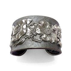 Fiori Cuff Bracelet by Davide Bigazzi: Silver Bracelet available at www.artfulhome.com