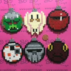 Star Wars Christmas bauble set Hama perler beads by Zo Zo Tings
