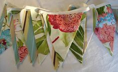 Tropical Luau Party Banner/ Birthday Banner/  by a Little Frayed