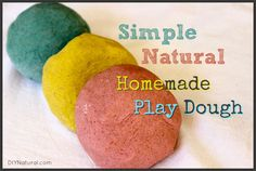 This homemade playdough is simple, natural, and perfect for entertaining children. They enjoy helping make it almost as much as they enjoy playing with it!