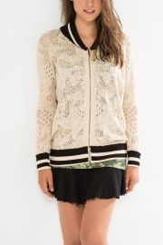 jaqueta bomber tricot