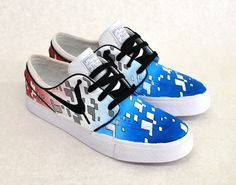 87da251c66297 America Red White and Blue Themed Stefan Janoskis - Custom Nike SB Sneakers