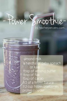 Don't think you have time for breakfast? A smoothie takes 5 seconds! Try this one and see if you notice a difference in your energy this morning...