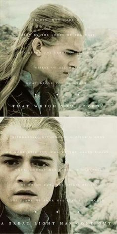 """ Inspired by this gifset, in which Orlando Bloom discusses Legolas' difficulty comprehending the death of Gandalf. Legolas And Thranduil, Gandalf, Aragorn Lotr, Fellowship Of The Ring, Lord Of The Rings, Elizabeth Ii, J. R. R. Tolkien, O Hobbit, Middle Earth"