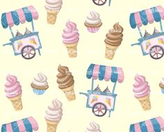 Vector Icecream Pattern inspiration. Use for your commercial food projects and enjoy larger vector collection of food related graphics. Coming with editable .ai source file. #graphicmama