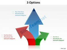 3 options with arrows upwards slides presentation diagrams templates powerpoint info graphics