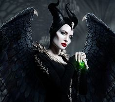 "The mistress of all evil!"" Maleficent is an evil fairy and the main antagonist of Disney's 1959 animated feature film, Sleeping Beauty. Maleficent is an incarnation of pure evil, and responsible for all misfortune in King Stefan's kingdom. Angelina Jolie Maleficent, Maleficent Movie, Malificent, Maleficent Quotes, Walt Disney Animation Studios, Punk Princess, Princess Disney, Alternative Disney, Disney Posters"