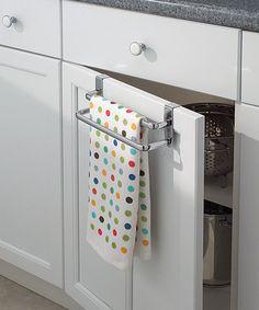 InterDesign Chrome Axis Over-the-Counter Double Towel Bar by InterDesign #zulily #zulilyfinds. $7.99     BOTH BATH. &KIT.