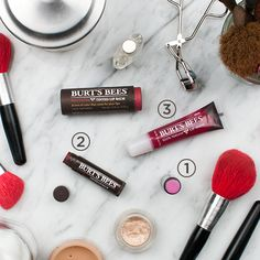 Are you wearing a warm-colored smokey eye tonight? Celeb makeup artist @kateydenno has just the beauty tip on what to do with your #lips. Start with Sweet Violet Tinted Lip Balm and top it with Flutter Lip Shine or Red Dahlia Tinted Lip Balm. Then finish the whole look with a dab of Pucker Lip Shine.