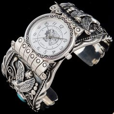 Watch Cuff - Turquoise & Silver jewelry | Alltribes