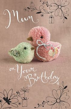 "Birds ""Tiddly pom pom"" by Eleri Fowler for Paper Rose greeting card Pom Pom Crafts, Yarn Crafts, Felt Crafts, Easter Crafts, Crafts To Make, Christmas Crafts, Crafts For Kids, Arts And Crafts, Preschool Crafts"