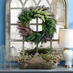 Heather Boxwood Wreath
