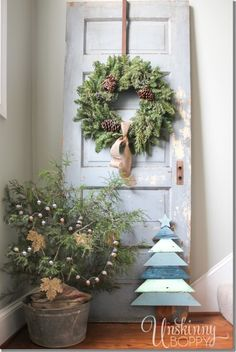 DIY christmas, home decor, recycling doors; case e interni-recuperare vecchie porte - idee, tutorial