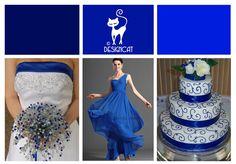 Royal Blue Wedding Inspiration Colour Board | Designcat Colour Inspiration Pallet
