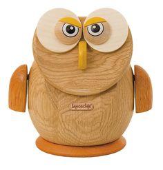 "Wooden owl money box ""Janoschik""."