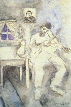 """Marc Chagall, """"violinista sentado"""", 1908a."""