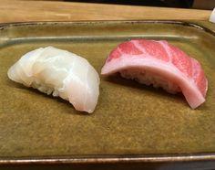 Wild Suzuki (Sea Bass) aged in Kombu and O-Toro. At Sushi-Ya, Kielce, Poland. Nigiri Sushi, Sashimi, Sushi Ya, Japanese Sushi, Sea Bass, Poland, Delish, Tasty, Traditional Japanese