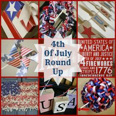 4th of July Round Up Crafts and Ideas for the 4Th of July...