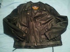 #ebay #friend JUST lost her dear husband to ❤️Disease....please pin to help her sell❤️3X Harley Davidson Leather Motorcycle Jacket Men Large Raised Eagle Back Cruiser
