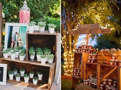 favors in wooden crates