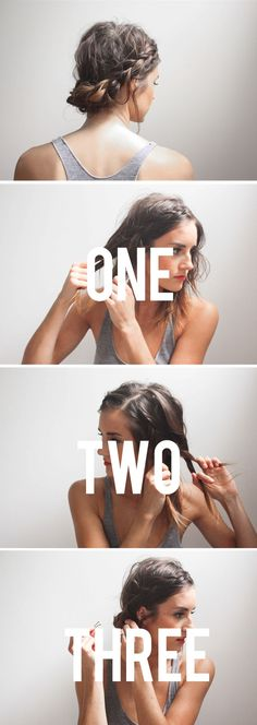 2 minute take on the milkmaid braid #howto #hair #tutorial