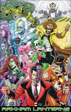 Gotham Villains as Lanterns. Comic Villains, Dc Comics Characters, Gotham Villains, Comic Books Art, Comic Art, Godzilla, Al Ghul, Arte Dc Comics, Drawn Art