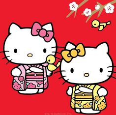 Hello Kitty & Mimmy welcoming 2017!!!!! ♪(*^^)o∀*∀o(^^*)♪