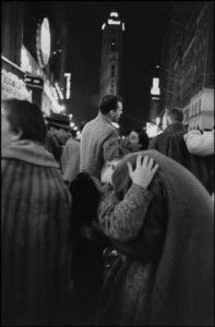 NEW YORK—New Year's Eve in Times Square, 1959. © Henri Cartier-Bresson / Magnum Photos