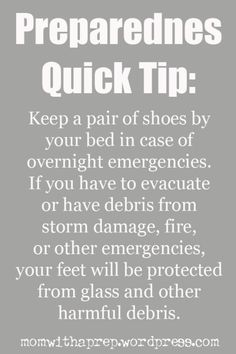 Emergency Preparedness Quick Tip: Shoes