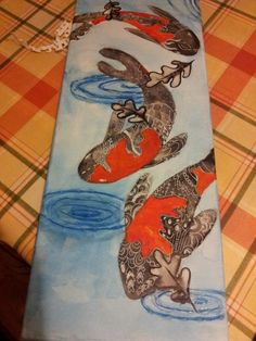 some brilliant fish from the Adult art class at Faux Arts