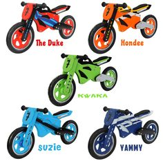 Kidzmotion Wooden Motorbike Balance bike / running bike / first bike SRP £99