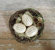 #Bookish Easter / Spring Decor :: #Book Pages Decoupaged Eggs in Bird's Nest