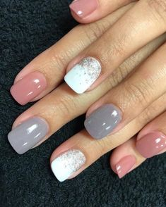 Fancy Nails, Pink Nails, Cute Nails, Purple Nail, Stylish Nails, Trendy Nails, Revel Nail Dip Powder, Semi Permanente, Nagellack Design