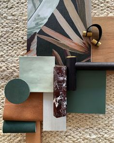 ones of green and touches of natural texture. love this scheme from the studio today. House Color Schemes, Colour Schemes, Interior Design Inspiration, Color Inspiration, Moodboard Interior, Living Room Decor Cozy, Colour Pallette, Colour Board, Color Stories